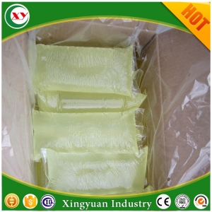 Structure hot melt glue for female sanitary pads